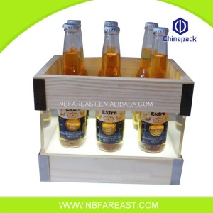 New design natural custom wooden ice bucket