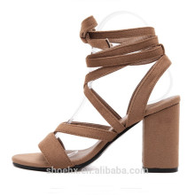 sexy hot sale ladies shoes open toe chunky heel womens shoes