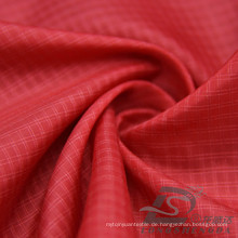 Wasser & Wind-Resistant Daunenjacke gewebt Double-Striped Plaid Jacquard Polyester- Polyamid Composite Filament Stoff (X013)