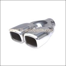 STAINLESS STEEL DOUBLE WALL TWIN SLANT  TAIL PIPE TRIM TIP
