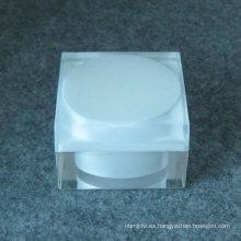 Tarro de acrílico cristalino material del diseño del OEM 2017