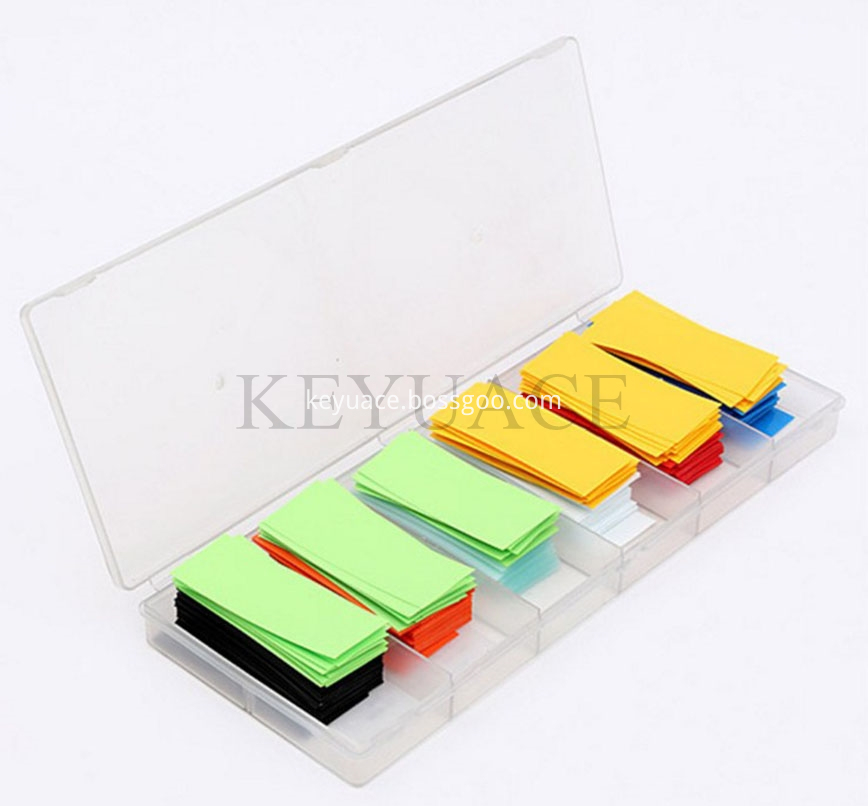 280pcs Colorful Wire Wrap Insulation Pvc Battery Tubing Kit