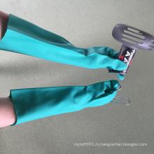 """NMSAFETY аттестованный CE сверхмощный химически стойкие перчатки длинные 18"""""""