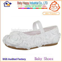 plain white fancy girl shoes for kids