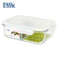 Recipiente de comida de cristal reutilizable de microondas durable