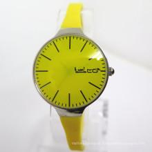 Relógio de moda de silicone novo estilo da mulher assistir relógio quente barato (hl-cd041)