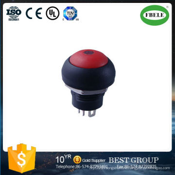Push Button Switch 12 mm Hole Without Light Automobile Electric Vehicles Dedicated PA Button Switch, Push Button Switch with LED