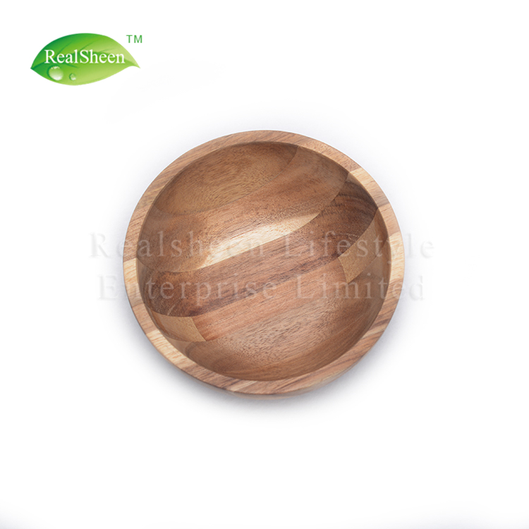 Mini Wooden Salad Bowl