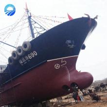 Airbags gonflables marins de levage de bateau en caoutchouc de récupération