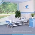 АГ-BY104 регулируемая съемная спинка кровати 3-function электрические двигатель на раму с четырьмя молчком колесами