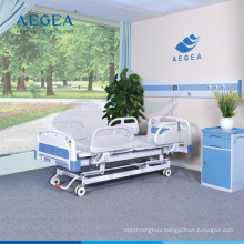 AG-BY104 with central-controlled braking system medical ward furniture multifunction hospital bed
