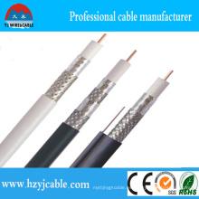 Cable coaxial de la alta calidad CCTV RG6 / cable coaxial de la trenza de cobre Rg59 / cable coaxial Rg11