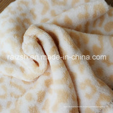 Leopard-Sided Coral Fleece, Ropa de Dormir Plush Telas de Otoño e Invierno