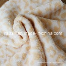Leopard-Sided Coral Fleece, pelúcia Pijamas Outono e Inverno Tecidos