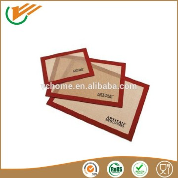 Food grade silicone coating non stick and heat Resistant fiberglass baking mat