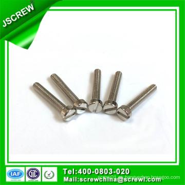 Tornillo cabeza ranura ranura de acero al carbono Zinc plateado máquina tornillo