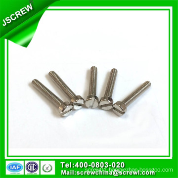 Cap Head Slotted Recess Carbon Steel Zinc Plated Machine Screw