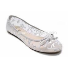 2016 été femmes chaussures en argent estampage sur chaussures plates mailles confort chaussure de loisirs