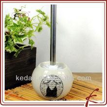 Keramik-WC-Bürstenhalter mit WC-Schüssel Pinsel