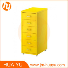 Office Furniture Yellow 6 Drawer Steel Filing Cabinet