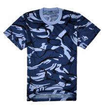 Camisas de encargo lisas del ajuste seco de Camo para las ventas