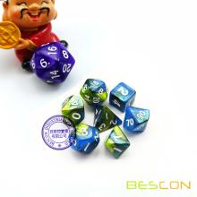 Small Gemini T dral Dice Set, Mini RPG Dice D4-D20
