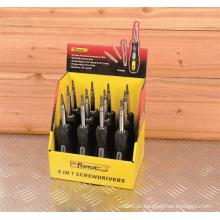 Entregue a caixa de exposição macia do aperto 6 do OEM da chave de fenda das ferramentas