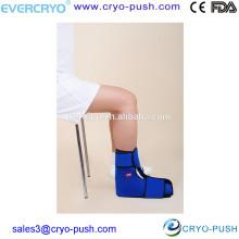 Paquetes de hielo gel flexibles para el tratamiento de lesiones de tobillo