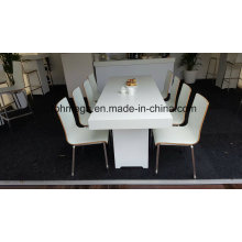Dubai Market HPL Restaurant White Chair Set (FOH-RCH4)