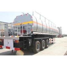 3 axle 40cbm liquid asphalt tank trailer with pump