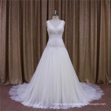 Vestidos de boda sin mangas del estilo de la vendimia de la nueva llegada