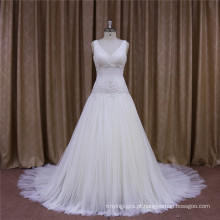 Vestidos de casamento sem mangas estilo vintage nova chegada