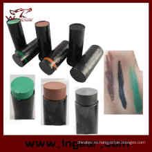 3 color caza táctico cara camuflaje Pintura aceite Kit para Sniper