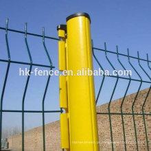 75x100mm malha tamanho 2.2x3.5m revestimento de PVC 5mm fio Curvy soldado malha cerca de arame