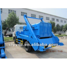 DongFeng 4x2 mini garbage truck 4m3 hydraulic lifter garbage truck