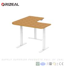 3 формы ног Л офисе сидеть, стоять угловой высота регулируемая электрический офисный стол