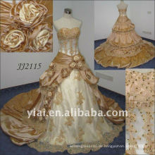2010 späteste erstaunliche neue wirkliche Ankunft wulstiges Hochzeitskleid JJ2115