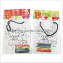 sac non tissé dessin enfants bricolage peinture sac à main à la main avec crayon