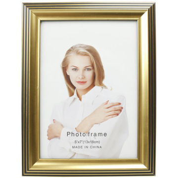 Golden Classical Plastic Photo Frame 5x7inch