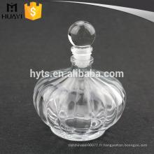Bouteille en verre de diffuseur de roseau d'arôme vide de 230ml avec le chapeau en verre