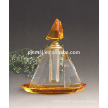 fashion crystal perfume bottle with base for car decoration