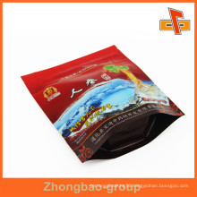 Guangzhou Food Grade Aluminum Giseng Pouch Plastic Stand Lamination Ziplock Pouch With Window