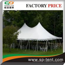 Tente de style Pole blanc Tente 7mx12m à vendre sans couvercle mural