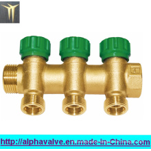 Brass 3-Way Manifolds with Plastic Cap (a. 0182)