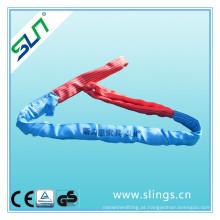 8t * 8m poliéster duplo olho rodada sling fator de segurança 5: 1