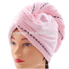 2016 new designer bamboo quick-drying hair drying towel turban 25cm*66cm