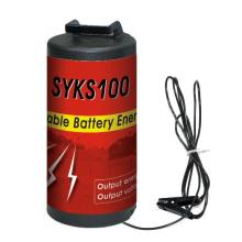 Portable dry-battery energizer