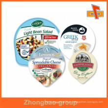 Taza de yogur sin recargar de grado alimenticio de aluminio tapa de aluminio