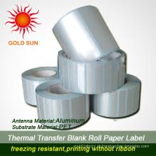 Rolo de papel térmico adesivo amplamente utilizado (TPL-013)