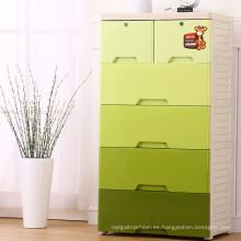 Gabinete de cajón de plástico verde de moda para el hogar (206026)